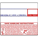 CAS LP-1000 #8030 Non-UPC Safe Handling Thermal Labels