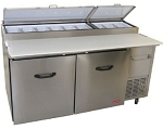 Tor-rey Double Door Refrigerated Pizza/Sandwich Prep Table PTP-170-11