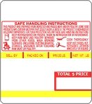 AC-2000, AC-3000 Series, AC-3000B, BC-3000 UPC, mid Safe Handling Scale Labels