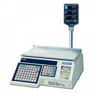 CAS-LP1000NP, Label Printing Scale with Pole Display, 30 lb